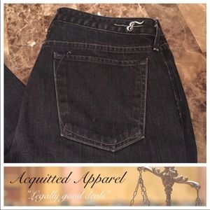 Earnest Sewn Denim - Earnest Sewn Black Wash Straight Ankle Jeans