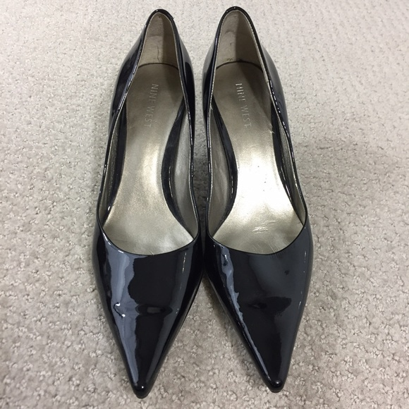 Nine West Black Patent Leather Pointy