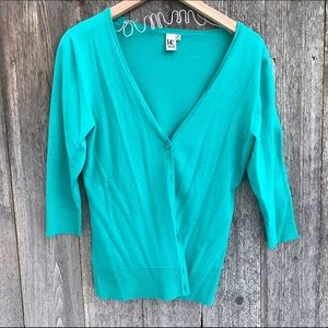 14th & union Sweaters - Teal cardigan