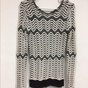 Etcetera black and white knit sweater