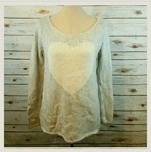 Old Navy Sweaters - White heart gray sweetheart PRICED FOR QUICK SALE