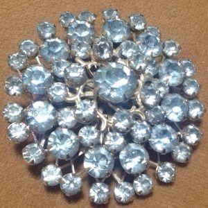 Vintage Jewelry - Vintage Light Blue Rhinestone Brooch