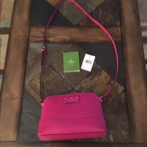 Pink Kate spade hanna Wellesley crossbody purse