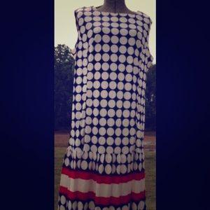 Vintage polka dot sleeveless dress... super cute