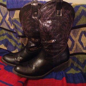 Rampage Shoes - Black Rampage midi cowboy boots size 7.5