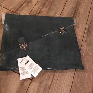 Slate Grey oversized clutch from ASOS   Brand new