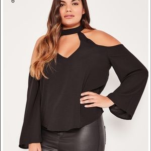 Missguided + Tops - Missguided Black plus size blouse