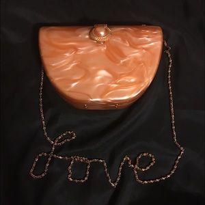 Vintage Butterscotch lucite purse