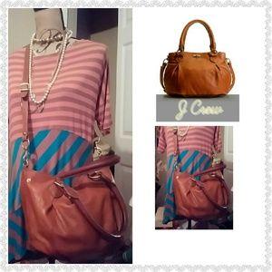 JCrew Henna/Tan Brompton Hobo Bag
