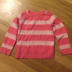 Precious pink and white girly sweatshirt