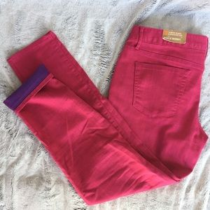 Bright Pink Fuchsia Ankle Skinny Jeans