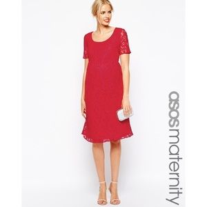 ASOS Maternity Dresses & Skirts - ASOS Maternity Lace Midi Dress Button Back sz 8