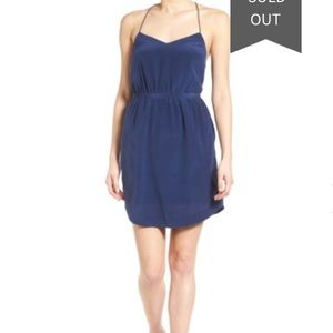 Madewell silk blouson strappy dress NWT