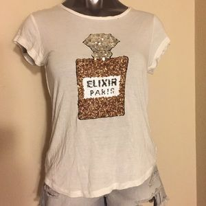 H&M Tops - H&M Sequin Paris Top