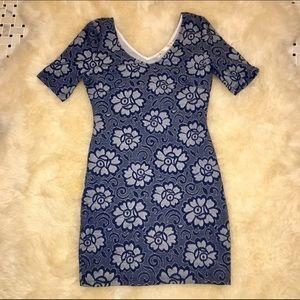 Blossom Dresses & Skirts - Blossom Blue Fitted Dress M/L