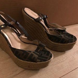 Fendi Wedge Espadrille - Size 40