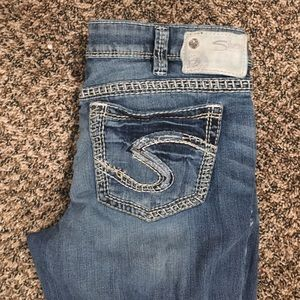 70% off Silver Jeans Denim - Aiko silver jeans size 34/33. from
