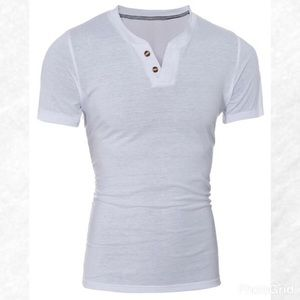 Other - White Shirt Sleeve Henley