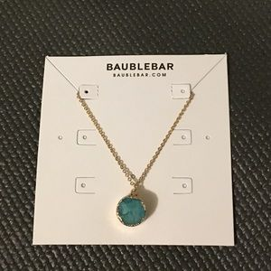 Baublebar gold and turquoise druzy necklace