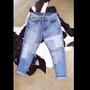 Nasty Gal Boyfriend Patch Jeans