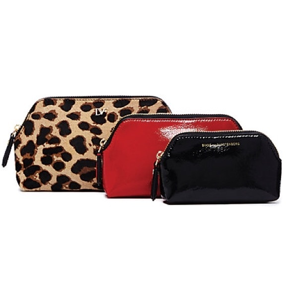 Diane von Furstenberg Bags   Dvf Voyage Triple Cosmetic Case Set ... 417f39d861