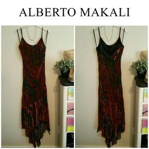 Alberto Makali Dresses & Skirts - SALE!!  Alberto Makali Velvet Burnout Beaded Dress