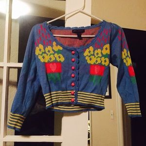 Vintage RARE Betsey Johnson bouquet sweater 💐