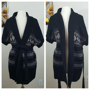 august silk Sweaters - August Silk Open Aztec Sweater Cardigan Medium
