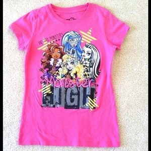 Monster High Other - Monster High Girls T-Shirt/Tee, Size M (7-8)