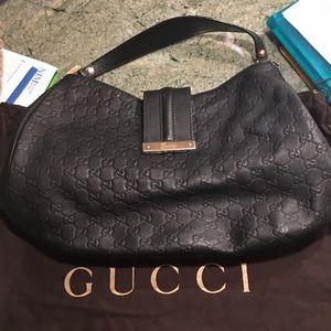 """✨Gucci """"Guccisimma Web Hobo Bag"""""""