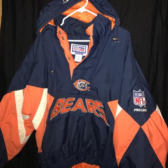 6d2f4a8edfc NICE Vintage Chicago Bears Starter NFL Coat Jacket.  M 5886e26f4225bed69c039cea