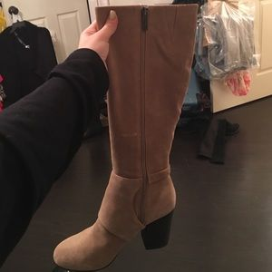 BCBGeneration Shoes - BCBG suede heel boots size 9