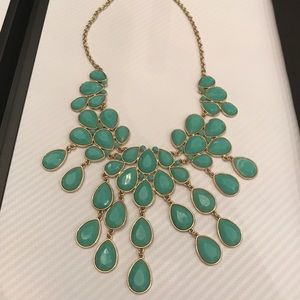 H&M Teal/Turquoise Statement Necklace