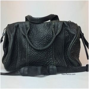 Alexander Wang Rocco black leather satchel