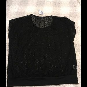 Black lace shirt Sz xl