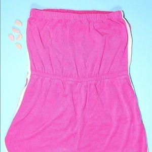 Vintage Shorts - Vintage Pink Terrycloth Romper