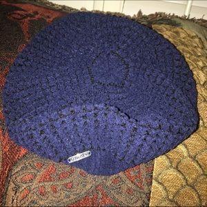 Calvin Klein Accessories - Calvin Klein Navy Blue hat beret beanie