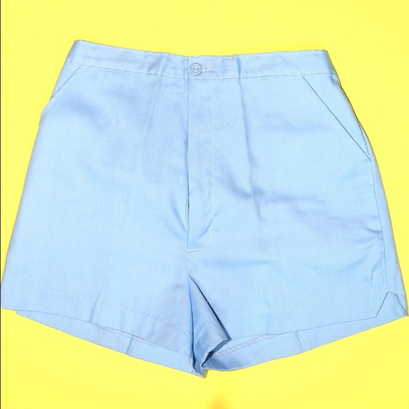 Vintage Pants - Vintage Blue Hi Waisted Shorts