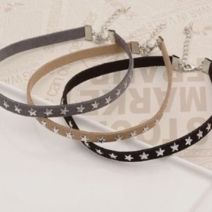 Jewelry - SET OF 3 SUEDE LEATHER CHOKERS