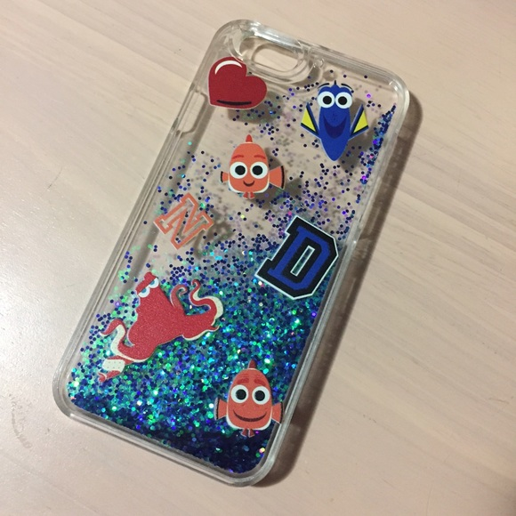 super popular 6dd4d 517f6 Disney glitter iphone 6/6s case Finding dory nemo