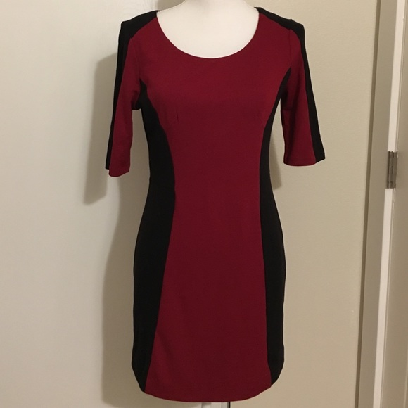 8734806ff58 Dresses   Skirts - Thyme Maternity red and black dress or tunic