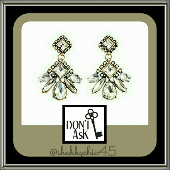 Don't AsK Jewelry - Glass Crystal Drop Dangle Earrings by Don't AsK