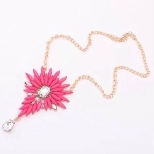Cute Gold Filled Pink Resin Necklace