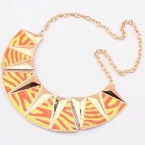 Orange Gold Filled Necklace