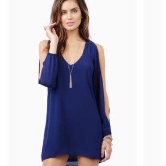 60% off Tobi Dresses & Skirts - Tobi Navy Blue Shift Dress with ...