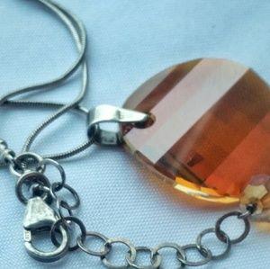 Vintage  Jewelry - VINTAGE STERLING SILVER PENDANT NECKLACE