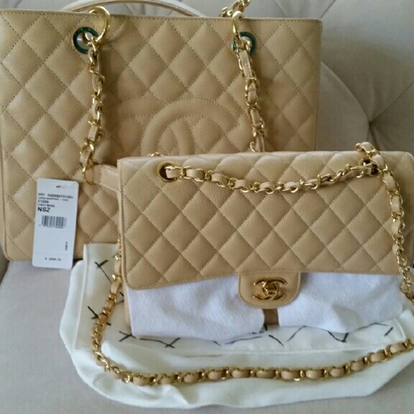 99ce890a652f CHANEL Bags | Gst And Double Flaps In Beige Caviar | Poshmark