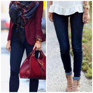 Slimming Dark Blue Skinny Jeans