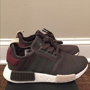brand new f5f85 61f15 Adidas Shoes | Brand New Nmd R1 Womens Olive Maroon | Poshmark