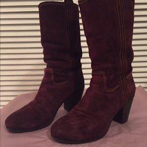 Alberto Fermani Shoes - Alberto Fermani burgundy wine suede leather boots